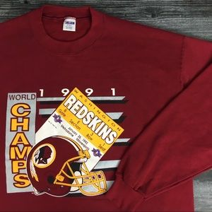 1991 Washington Redskins NFL Crewneck